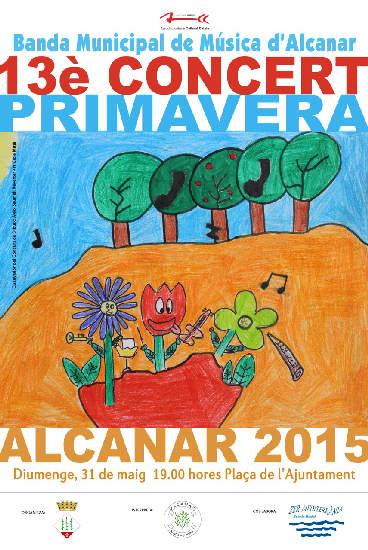 Cartell del Concert de Primavera d'Alcanar